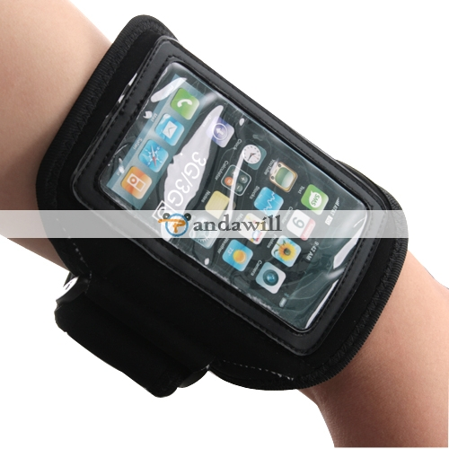 Armband Holder Adjustable for iPhone 3G/3GS/4G Black