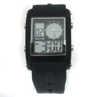 New Dual Display Waterproof Sport Watch Black Color
