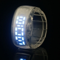New Fashion Sports LED Display Watch Clear