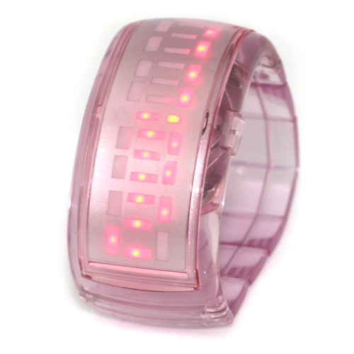 New Fashion Women Sports LED Display Watch Pink