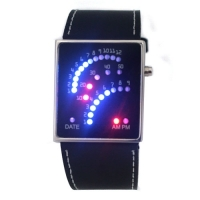 29 LED Blue&Red Light Digital Date Lady Men Wrist Watch