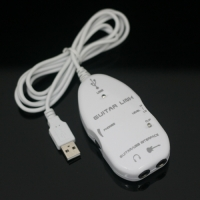 USB Guitar Link Cable PC Recording  White