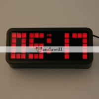 Red LED Light Snooze Alarm Clock with Calendar Display