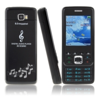Q630 Phone Dual SIM Card Bluetooth FM Camera 2.0 Inch Cellphone - Black