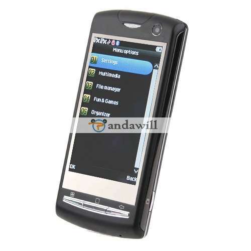 U9i Cell Phone Dual Sim Card Dual Standby Java Black